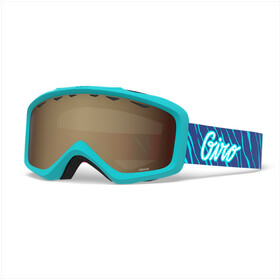 Giro Grade Svømmebriller Børn, glacier stripes/amber rose